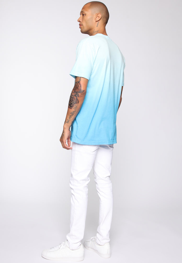 Came Through Dipping Short Sleeve Tee - Blue