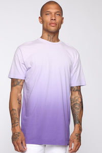 Came Through Dipping Short Sleeve Tee - Purple Angle 1