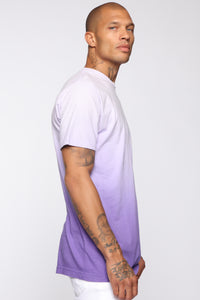Came Through Dipping Short Sleeve Tee - Purple Angle 3