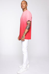 Came Through Dipping Short Sleeve Tee - Red Angle 4