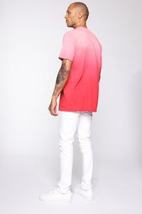 Came Through Dipping Short Sleeve Tee - Red Angle 5