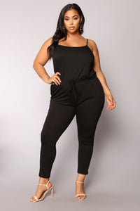 Stay Inside Jumpsuit - Black