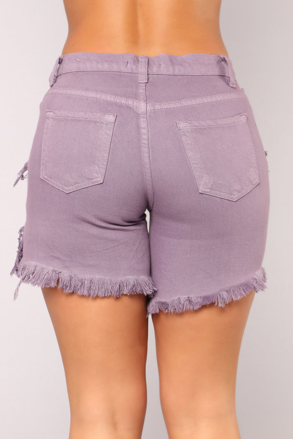 Make Me Smile Bermuda Shorts - Lavender
