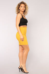 Static Shock Skirt - Mustard