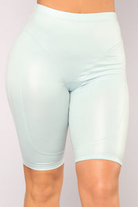 Alayna Biker Shorts - Dusty Blue
