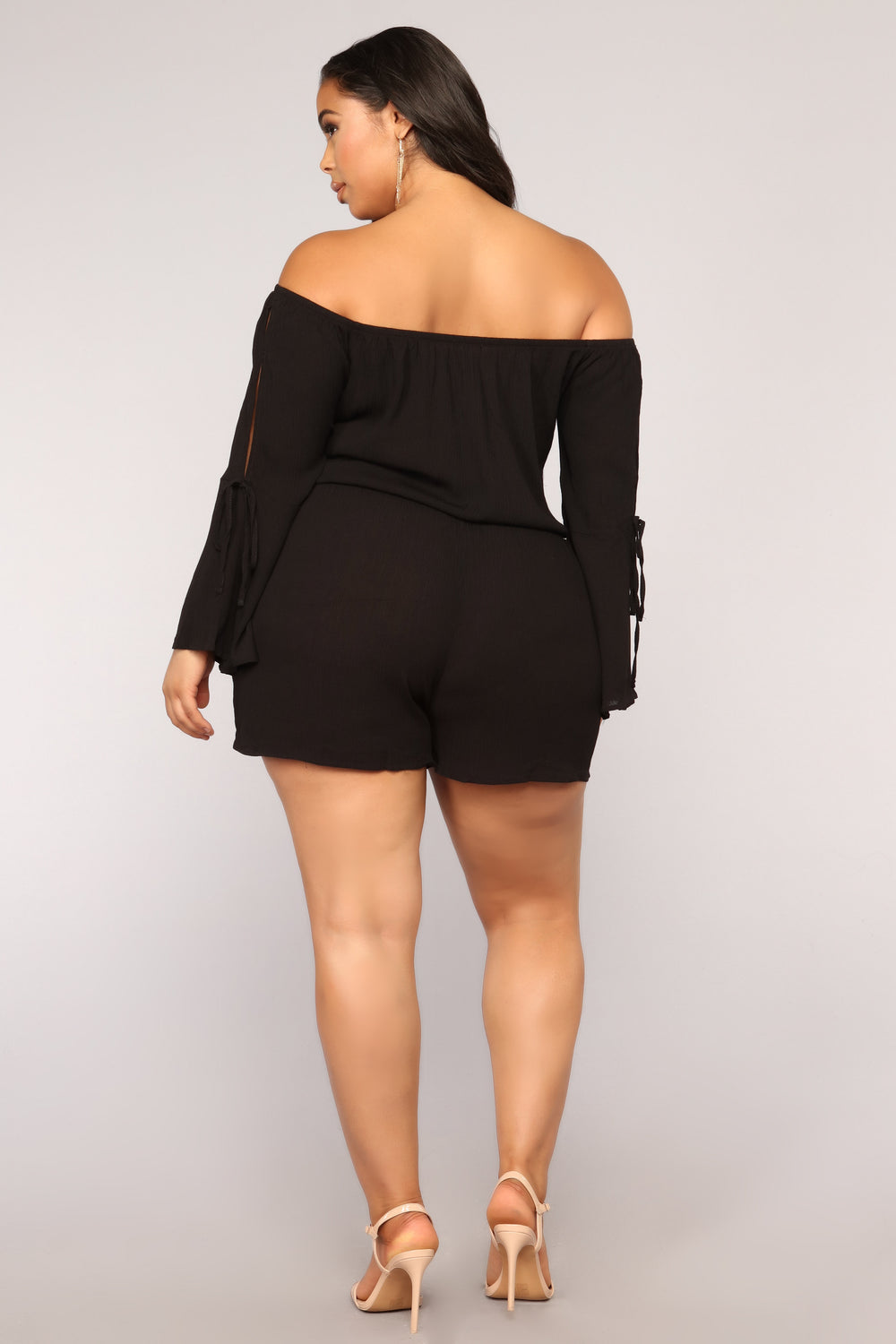 Maine Off Shoulder Romper II - Black