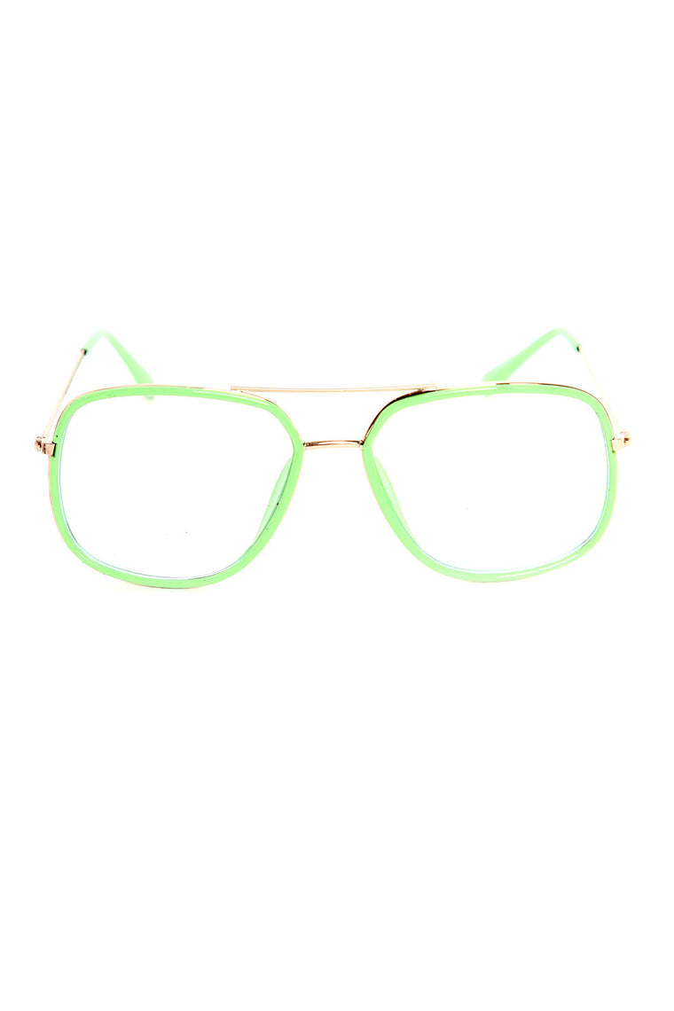 Golden Boy Bluelight Glasses - Mint