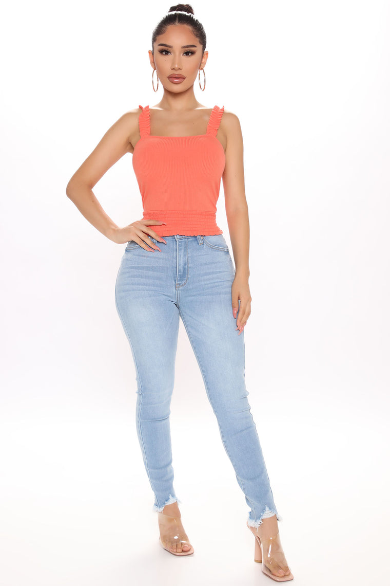 My Girl Ruffle Cami Top - Orange