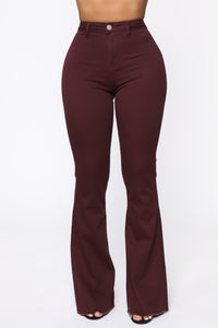 Valentina High Rise Flare Jeans - Plum Angle 2