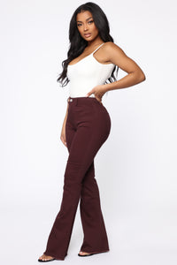 Valentina High Rise Flare Jeans - Plum Angle 3