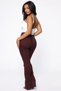 Valentina High Rise Flare Jeans - Plum Angle 5