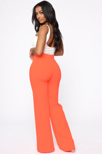 Bailey Button High Rise Pants - Neon Coral