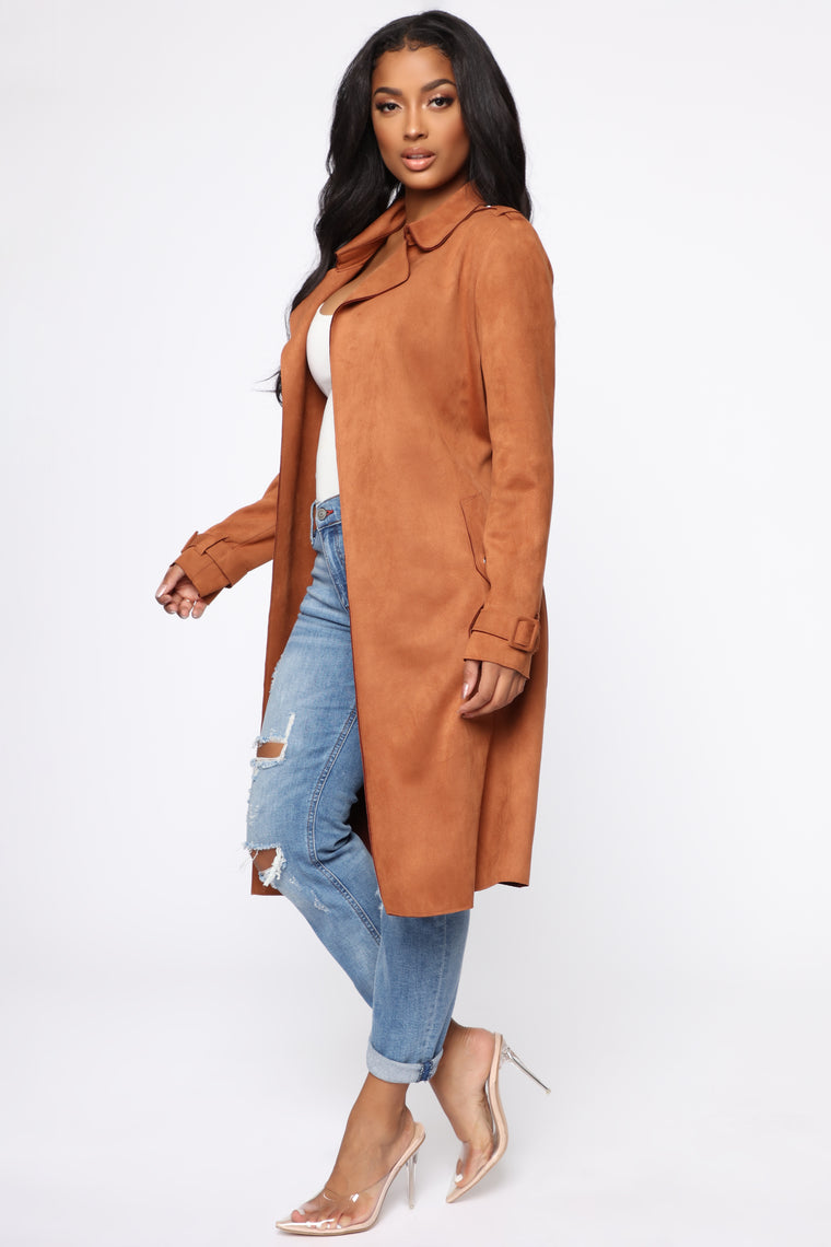 On The Go Trench Coat - Cognac