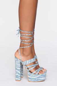 Round Of Applause Heeled Sandals - Denim