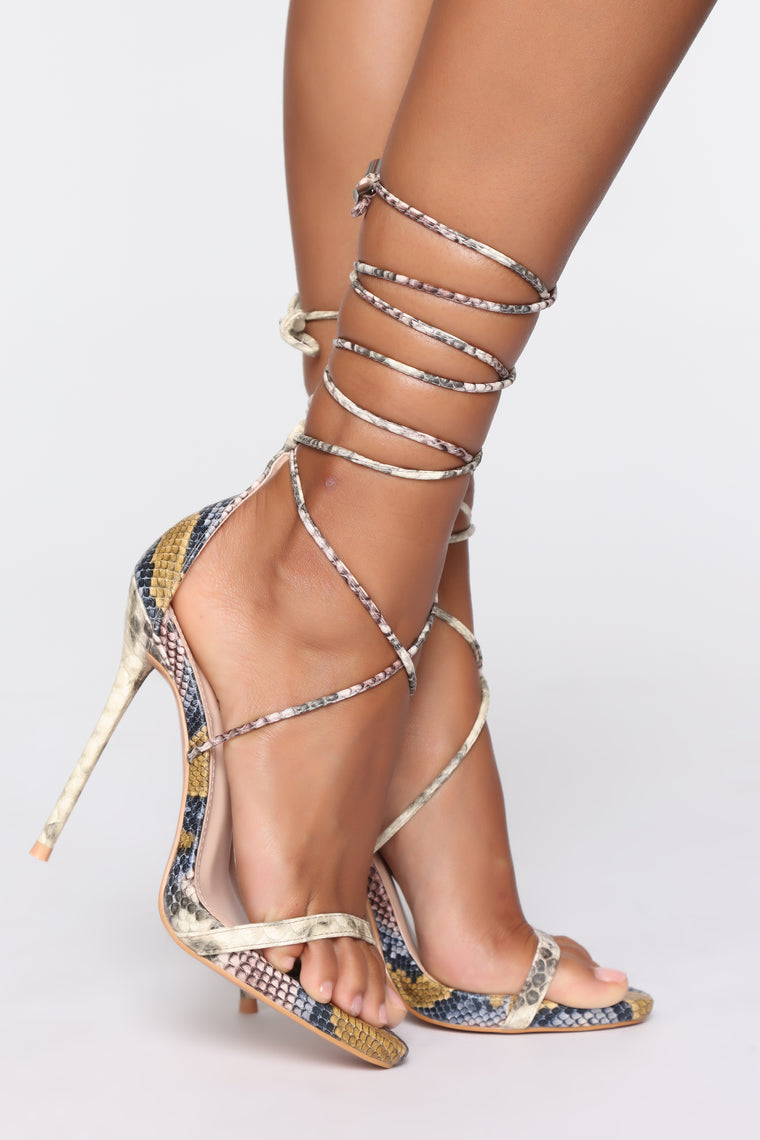 Worth Fighting For Heeled Sandals - Brown Snake