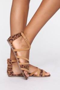Try Me Not Flat Sandals - Tan