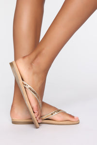 That's Not The Reason Flat Sandals - Gold Angle 1