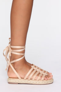 False Alarm Flat Sandals - Nude