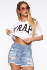 Crown The Trap Queen Top - White