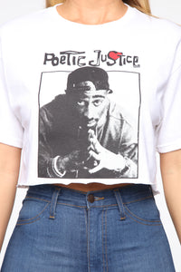 Poetic Justice Crop Top - White