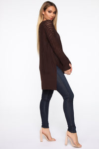 Until The End Sweater - Cognac