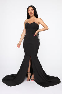 Feeling Exquisite Mermaid Dress - Black Angle 2