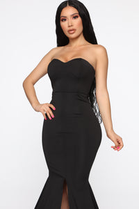 Feeling Exquisite Mermaid Dress - Black Angle 3
