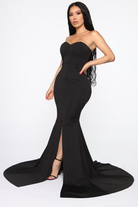 Feeling Exquisite Mermaid Dress - Black Angle 4