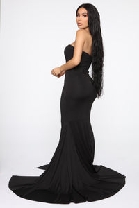 Feeling Exquisite Mermaid Dress - Black Angle 5