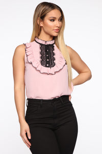 Always Up One Ruffle Top - Pink