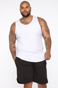 Pumped Up Tank - White/Black Angle 6