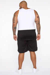 Pumped Up Tank - White/Black Angle 10