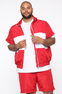 Brooklyn Jacket - Red/combo