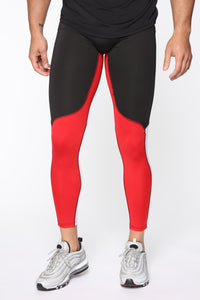Slip Up Tights - Red/combo