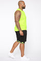 Check On Me Short - Black/NeonYellow