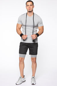 Breathing Short Sleeve Tee - Grey