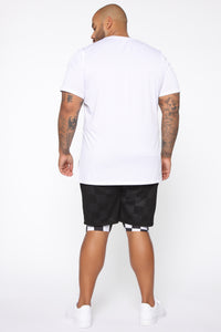 Step Hem Short Sleeve Tee - White