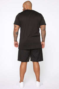 Step Hem Short Sleeve Tee - Black