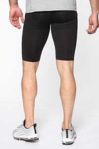 Work It Out Biker Shorts - Black