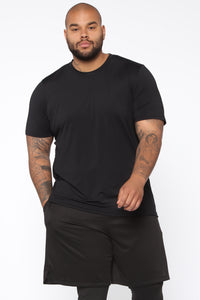 Breathing Short Sleeve Tee - Black
