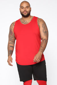 Pumped Up Tank - Red/Black Angle 6