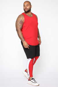 Pumped Up Tank - Red/Black Angle 9