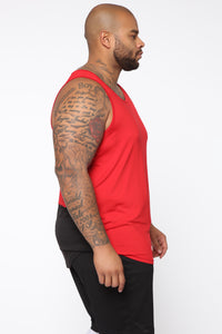 Pumped Up Tank - Red/Black Angle 8