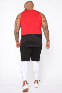 Pumped Up Tank - Red/Black Angle 10