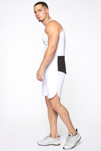 Pumped Up Tank - White/Black Angle 4