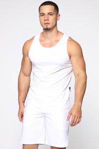 Pumped Up Tank - White/Black Angle 1