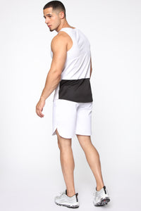 Pumped Up Tank - White/Black Angle 5