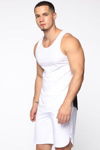 Pumped Up Tank - White/Black Angle 3