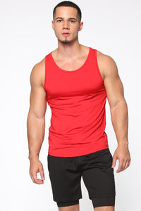 Pumped Up Tank - Red/Black Angle 1