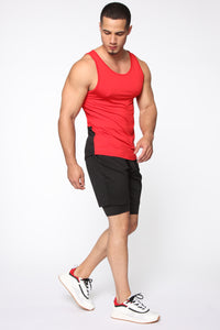 Pumped Up Tank - Red/Black Angle 4